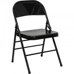 Chaise pliante en métal prato3