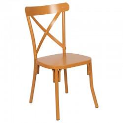 Chaise Crossback en métal