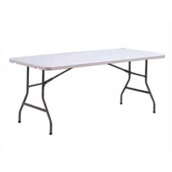 White Plastic Folding Table