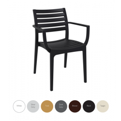 Luna AB patio stacking chair