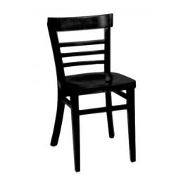 Cafe bistro chaise en bois