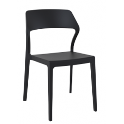 Terrace stackable chair snow
